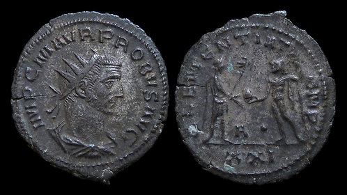 PROBUS . AD 276-282 . Antoninianus . Emperor and Jupiter