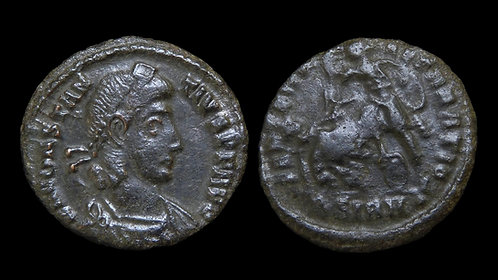 CONSTANTIUS II . AD 337-361 . AE3 . Falling Horseman . Sirmium