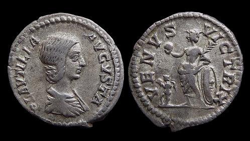 """PLAUTILLA . AD 202-205 . Denarius . """"VENVS VICTRIX"""""""