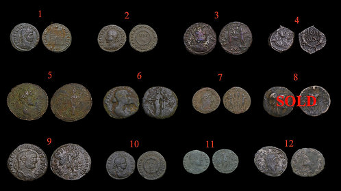 Pick Bin #1 . Ancient Roman & Greek Coins . $7.50 / coin of your choice