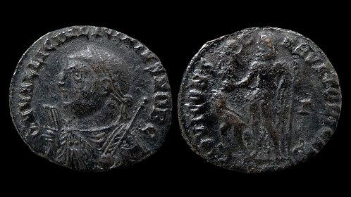 "LICINIUS II, as Caesar . AD 317-324 . Follis . ""Jupiter and captive"""