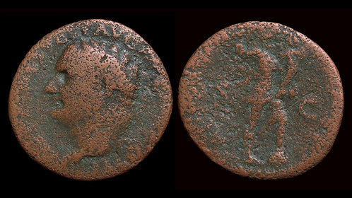 TITUS . AD 79-81 . AE As . Aeternitas . *Budget bronze of Titus*