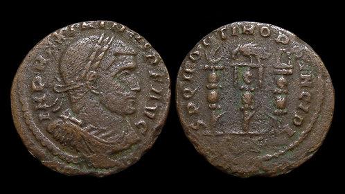"""MAXIMINUS II DAIA . AD 310-313 . Follis . """"SPQR OPTIMO PRINCIPI"""" . Rare"""