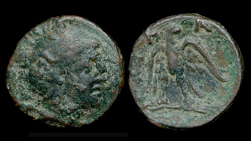 MACEDONIAN KINGDOM . Perseus, 179-168 BC . AE20 . Last King of Macedon