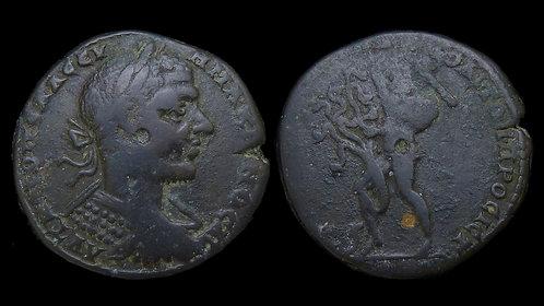 MACRINUS . MOESIA INFERIOR, Nicopolis ad Istrum . AE26 . Herakles & Hydra *Rare*