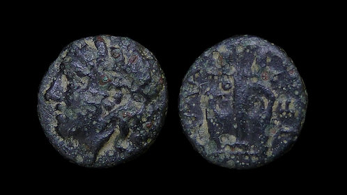 TROAS, Hamaxitos . circa 350-310 BC . AE11 . Apollo / Lyre . Scarce