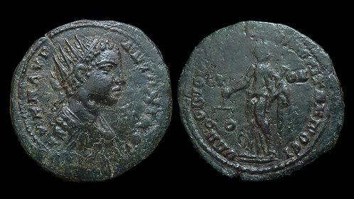 ELAGABALUS . MOESIA INFERIOR, Nicopolis ad Istrum . AE29 . Nemesis