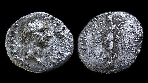 GALBA . AD 68-69 . AR Denarius . Victory on Globe . **Rare**