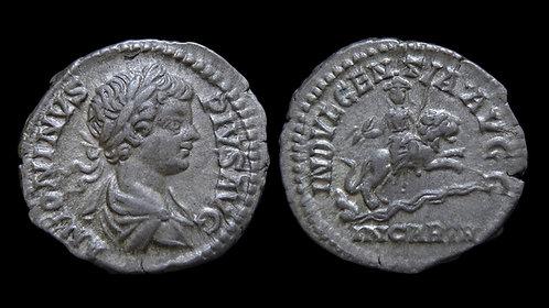 CARACALLA . AD 198-217 . AR Denarius . Dea Caelestis . **Ex Clain-Stefanelli**