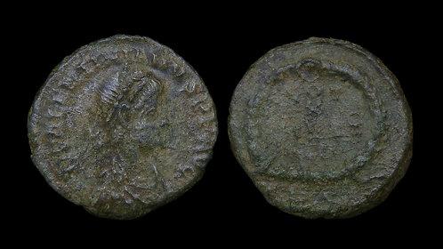 "VALENTINIAN II . AD 375-392 . AE4 . ""VOT X/MVLT/XX"""