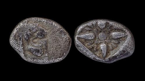 IONIA, Miletos . Circa 6th - 5th centuries BC . AR Obol . Small early fraction