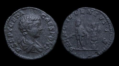 GETA, as Caesar . AD 198-209 . Fourrée Denarius Core . *Ex A.K. Collection*