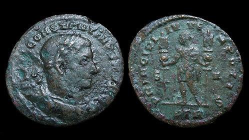 CONSTANTINE I . AD 306-337 . AE Follis . Large 27mm size type .  *Scarce*
