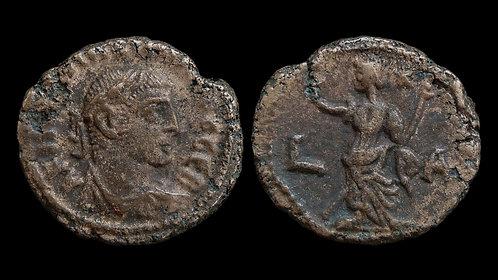 MAXIMIANUS . EGYPT, Alexandria . Potin Tetradrachm . Eirene