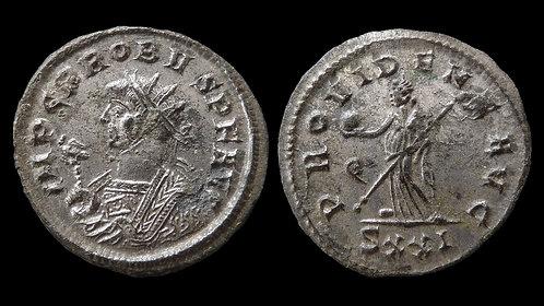 "PROBUS . AD 276-282 . Antoninianus . ""Providentia"" . Silvered"