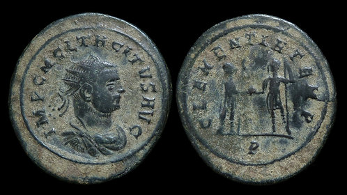 TACITUS . AD 275-276 . AE Antoninianus . Clementia . *Broad Flan!*