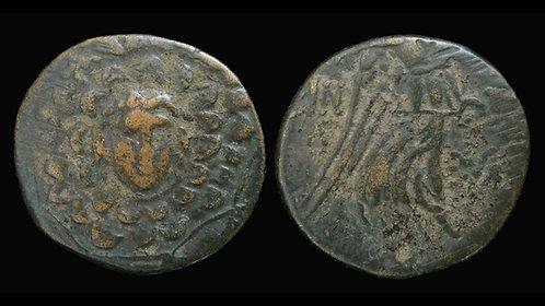 PAPHLAGONIA, Sinope . Mithradates VI, 120-63 BC . AE21 . Aegis / Nike