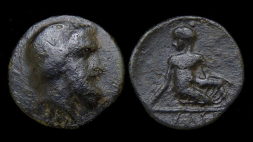 THESSALY, Kierion . 4th Century BC . AE14 . Arne with Astragaloi . *Ex BCD*