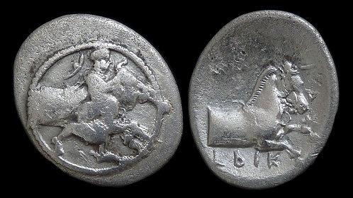 THESSALY, Trikka . 440-400 BC . AR Hemidrachm . 'Bullwrestling' type . *Ex BCD*