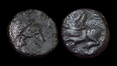 LEO I . AD 457-474 . AE Nummus . Lion . *A curiosity from the BCD Collection*