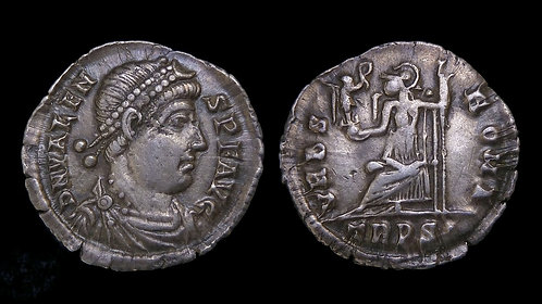 VALENS . AD 364-378 . AR Siliqua . **Ex Michael Kelly Collection**