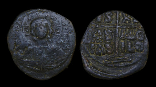 BYZANTINE EMPIRE . Anonymous Class B (Romanus III, AD 1028-1034) . AE Follis