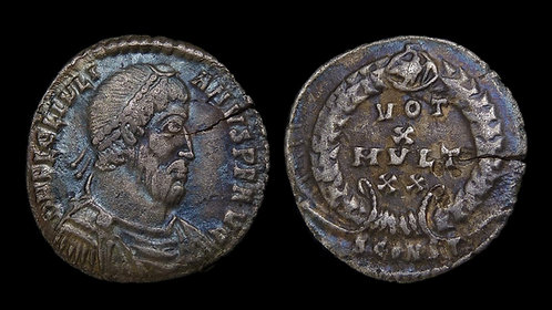 JULIAN THE APOSTATE . AD 361-363 . AR Siliqua . VOT X . Ex Kelly Collection