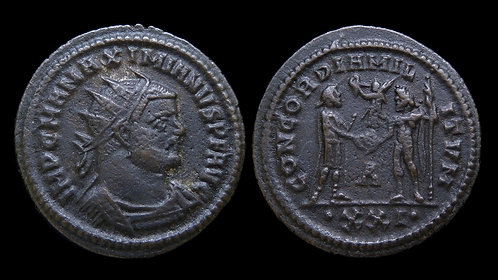 """MAXIMIANUS . AD 286-305 . Antoninianus . """"CONCORDIA MILITVM"""" . Heraclea"""