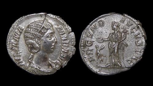 JULIA MAMAEA . AD 222-235 . AR Denarius . Beautiful, high grade example