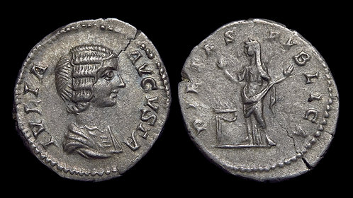 JULIA DOMNA . AD 193-217 . AR Denarius . Ex Cardinal Meisner Collection with tag