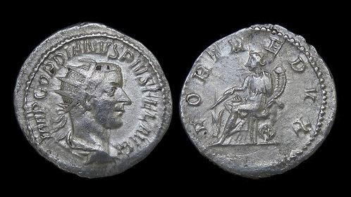 "GORDIAN III . AD 238-244 . AR Antoninianus . ""FORT REDVX"""