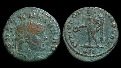CONSTANTIUS I CHLORUS . AD 305-306 . 1/4 Follis . *Scarce denomination*