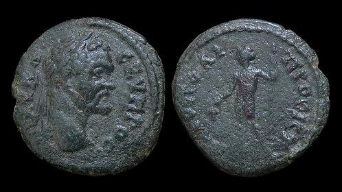 SEPTIMIUS SEVERUS . MOESIA INFERIOR, Nicopolis ad Istrum . AE18 . Dionysos