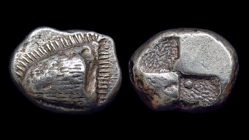 PAPHLAGONIA, Sinope . 490-425 BC . AR Drachm . Unusual stylized head of eagle