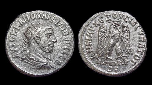 PHILIP THE ARAB . SYRIA, Seleucia and Pieria, Antioch . AR Tetradrachm