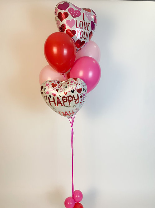 """Floating on love"" helium bouquet"