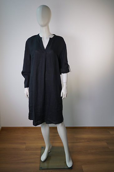 Leinenkleid  von Emily, schwarz