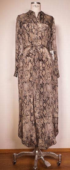 Langes Hemdblusen-Kleid, Animalprint
