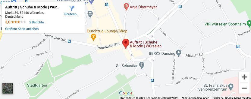 Google-maps-Auftritt