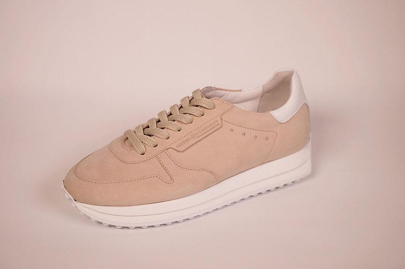 K & S Sneaker, softes Leder, beige