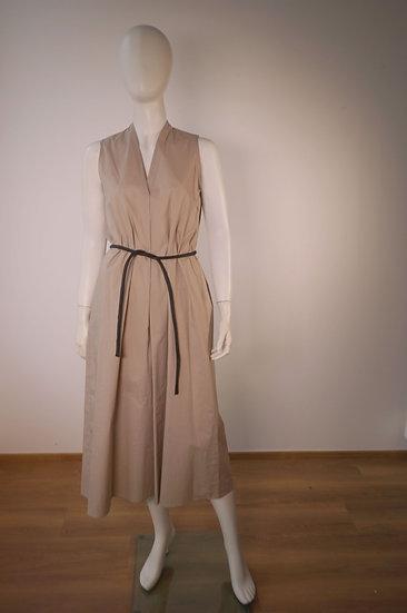langes Kleid, Cinque , sandfarben