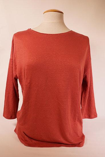 Majestic Shirt RH-neck , himbeerfarben