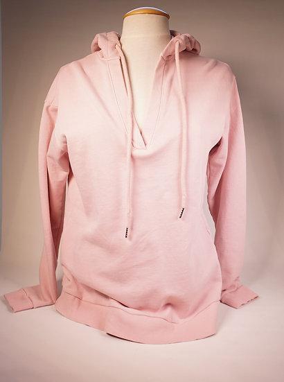 Hoodie V-neck , rosé
