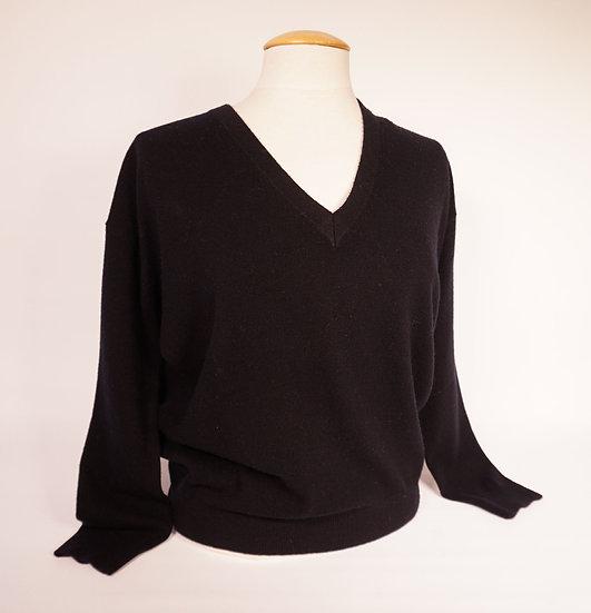Pulli V-neck, 100% Cashmere, schwarz