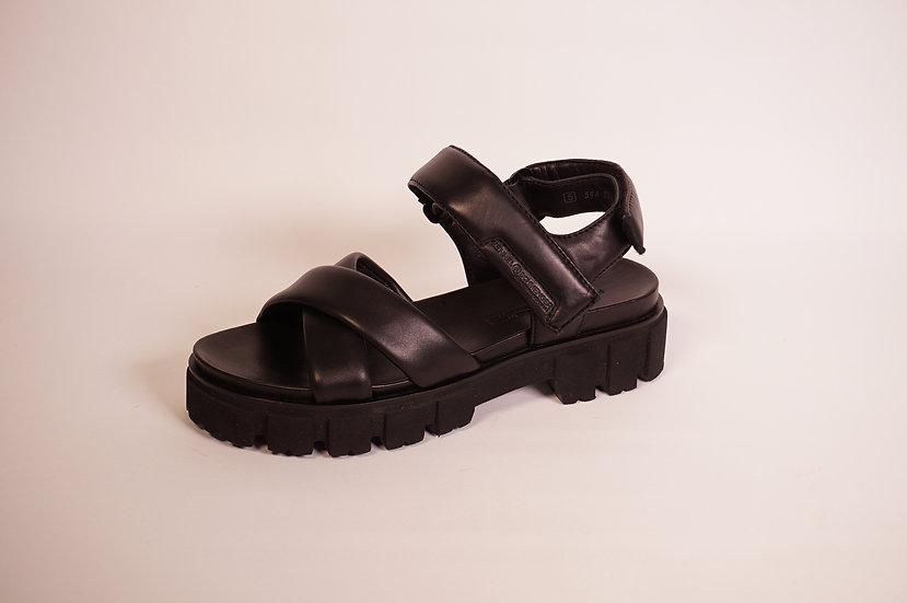 K & S Sandale, schwarz