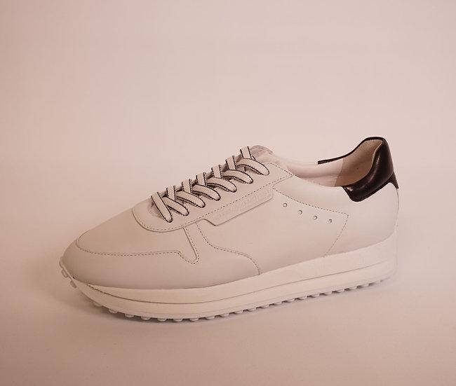 K & S Sneaker, softes Leder, weiss