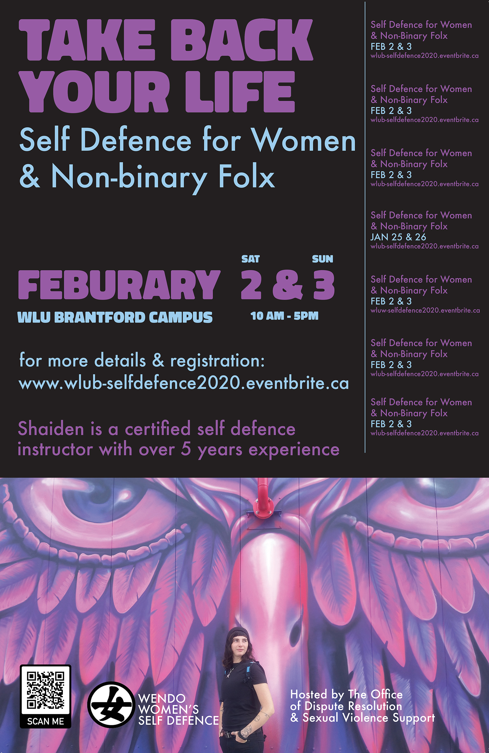self defense workshop poster