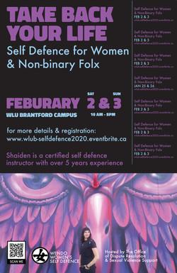 self defense workshop poster