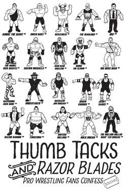 thumbtacks and razor baldes