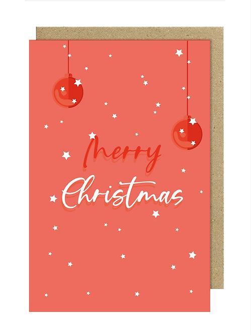 Merry Christmas Kırmızı Kartpostal
